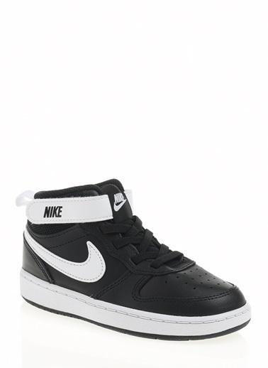 Nike Unisex Çocuk Siyah Spor Ayakkabı CD7784 - 010 Court Borough Mid 2 (Tdv) Siyah